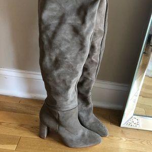 Zara Suede Over the Knee Boots - NEVER WORN!